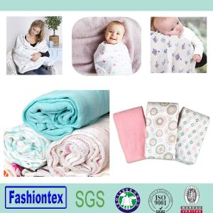 Custom Organic Muslin Swaddle Cotton Wrap Bamboo Fabric Blanket Muslim Baby Blankets pictures & photos