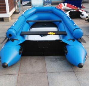 New Style Reinforced Blue Inflatable Rowing Boat pictures & photos