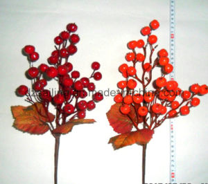 Autumn Coloration Berry Artificial Flower for Home Decoration (SHL15-G003)