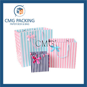 Colorful Stripe Printing Paper Clothing Packing Bag (DM-GPBB-083) pictures & photos