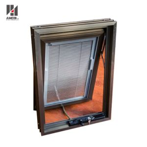 Customized Built-in Blind Aluminum Awning Window with AS/NZS2208 Glass pictures & photos