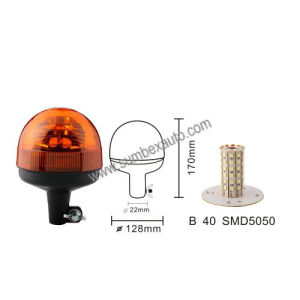 Pipe Mount Micro 12/24V Emark ECE R10 R65 Amber LED Warning Beacon Strobe Light (SM808BB)