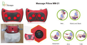 Infrared Neck Back Massage Pillow Electric Body Massager Pillow pictures & photos