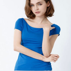 China blank stretch 95 cotton 5 spandex women t shirts for 95 cotton 5 elastane t shirt
