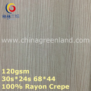 100%Rayon Crepe Woven Dyeing Fabric for Garment Textile (GLLML375) pictures & photos