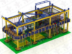 2015 Climbing Ropes Nets Obstacle Indoor Playground pictures & photos