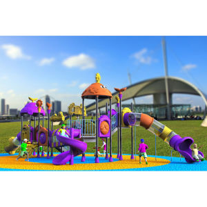 Outdoor Playground--Small Earth Guard Series, Children Outdoor Slide (XYH-MH016) pictures & photos