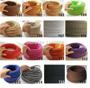 Brown Color Fabric Twisted Wire (T01) pictures & photos