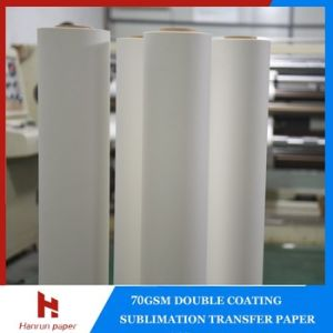 Low Weight 45, 55, 60, 70GSM Sublimation Transfer Paper Roll for Textile pictures & photos