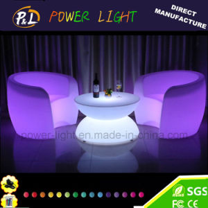 16 Colors LED Furniture Plastic Outdoor LED Sofa pictures & photos