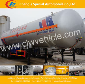 3 Axles 48 Cbm LPG Gas Tank Semi Trailer pictures & photos