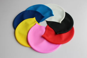 High Elasticity Silicone Swim Cap pictures & photos