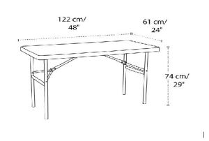 Rectangular Plastic Home Dining Folding Table pictures & photos