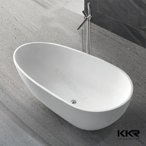 True Solid Surface Bliss Matte White Soaking Tub pictures & photos