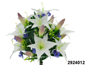 Artificial/Plastic/Silk Flower Tiger Lily/Lily Bud Mixed Bush (2924012) pictures & photos