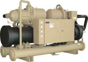 Two Compressors Screw Water Chiller (Water Cooled) pictures & photos