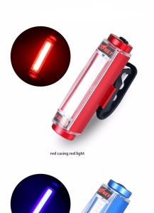 Aluminum COB USB Rechargeable Bicycle Tail 16LED Bike Safety Light pictures & photos