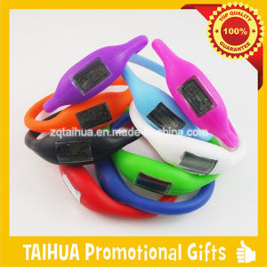Color Band with Debossed Logo Silicone Watch Bracelet pictures & photos