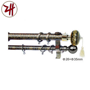 New Design Aluminum & Rion Curtain Pipe Rod Track (ZH-8809) pictures & photos
