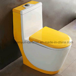 Ceramic One-Piece Toilet Siphonic Flushing Water Saving S-Trap (A-005) pictures & photos