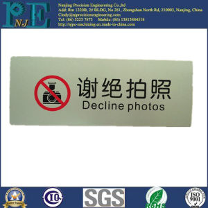 Customized Aluminum Paint Logo Parts pictures & photos