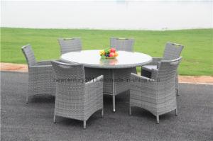 outdoor rattan garden wicker big round dining table and chair china outdoor rattan garden