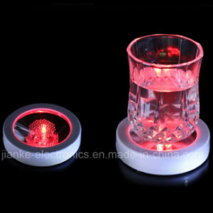 Round Shape LED Light up Coaster with Logo Print (4037) pictures & photos