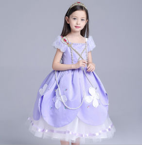 Child Baby Girls Short-Sleeved Dress pictures & photos
