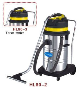 80L Stainless Steel Stick Control Wet and Dry Vacuum Cleaner (HL80-2/HL80-3) pictures & photos