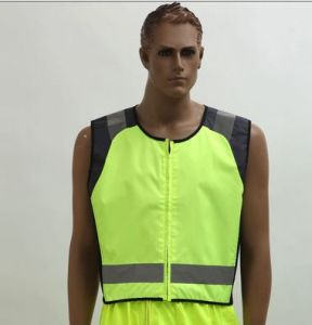 300d Oxford Waterproof Reflective Vest for Cycling, Running, with En pictures & photos