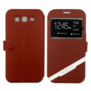 Customized Leather Mobile Case/Cover with Smart Awake/Asleep Function