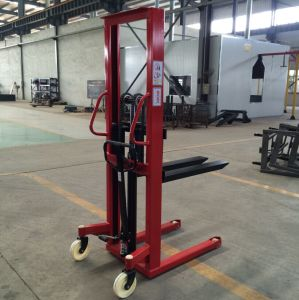 1t Manual Forklift Manual Pallet Stacker pictures & photos