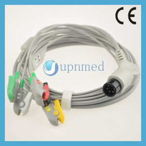 One Piece 3-Lead ECG Cable with Leadwires pictures & photos