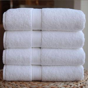 100% Cotton Plain White Towel (DPF2416) pictures & photos