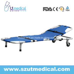 Ydc-1A3 Aluminum Alloy Foldaway Stretcher with Backside Riseup Function