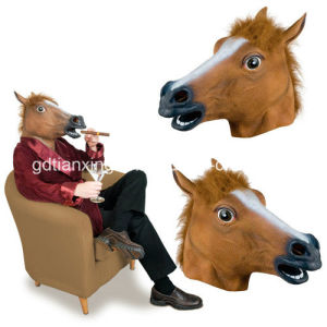 Halloween Crazy Mask Brown Horse Masquerade Party Cosplay Latex Mask for Any Party pictures & photos