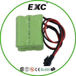 Customize AA 2000mAh 3.6V Ni-MH Rechargeable Battery Pack pictures & photos