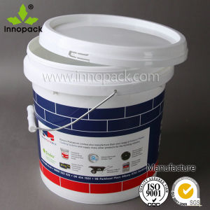 10L Plastic Bucket with Plastic Lid and Metal Handle Providing Customized Printing pictures & photos