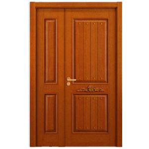 Oppein Double Leaf Oak Wood Security Entrance Door (MSZZ01) pictures & photos