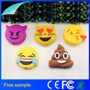 Hot Sale Cartoon PVC Emoji Power Bank Portable Mobile Battery Charger pictures & photos