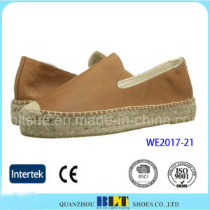 Fashion Footwear Napa Leather Casual Shoe with Hemp Rope pictures & photos