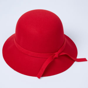Wholesale Lady Fedora Wool Wide Brim Felt Hat pictures & photos
