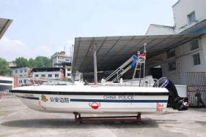 7.8meters FRP Boat High Speed Patrol Boat Outboards Good Quality pictures & photos