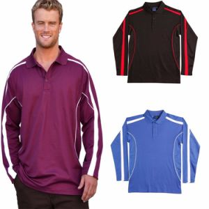 Custom Mens Long Sleeve Polyester Sports Polo Shirt (A478) pictures & photos