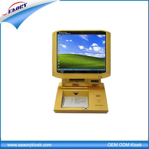 Gold Desktop Touch Screen Intelligent Visitor Management Kiosk pictures & photos