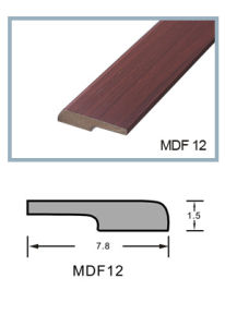 Ck MDF Skirting Baseboard Covered with PVC Grain Pattern pictures & photos