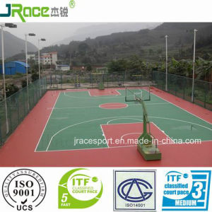 Elastic Buffer Outdoor Basketball Court Rubber Floor pictures & photos