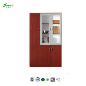 MFC High End Glass Doors File Cabinet pictures & photos