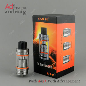 New Arrival 100% Original E-Cig Black Stainless Steel Smok Tfv8 Tank pictures & photos