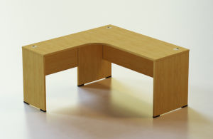 Office Wooden Desk with Shelf pictures & photos